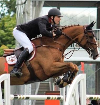 David Blake on jumping horse