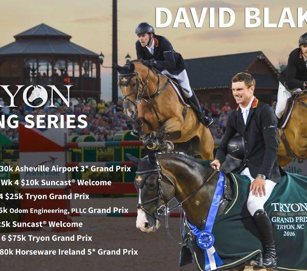 David Blake Tryon Spring Series flyer