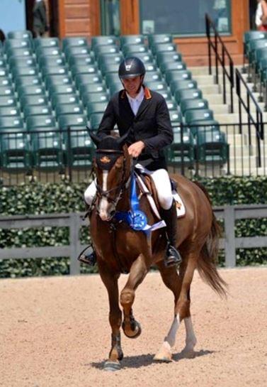 David Blake riding horse