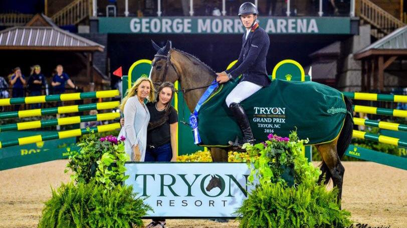 David and horse winning medal award