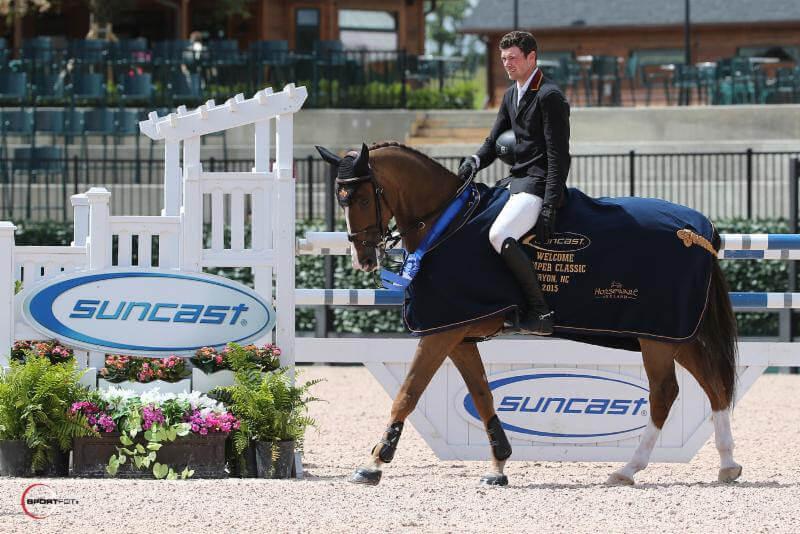 David Blake and his horse
