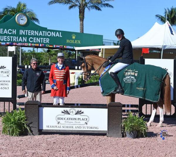 David Blake riding horse at the Palm Beach International Equestrian Center